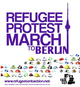 Flüchtlingsmarsch auf Berlin